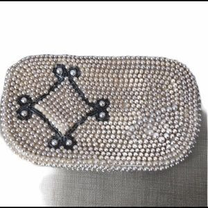Vintage Pearl Beaded Coin Purse